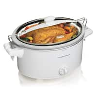 Hamilton Beach White Stay or Go 6 Quart Slowcooker