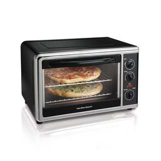 Hamilton Beach Black Countertop Oven with Convection and Rotisserie