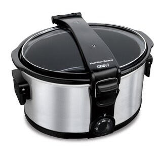 Hamilton Beach Silver 7 Quart Stay or Go Portable Slow Cooker