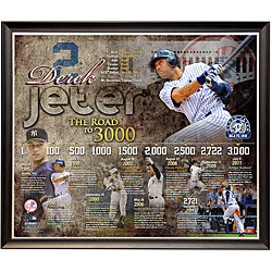 Steiner Sports Derek Jeter 3,000th Hit Collage