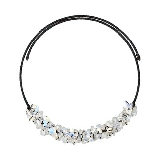 Handmade Cotton Glowing Pearl and Moonstone Choker Necklace (Thailand)