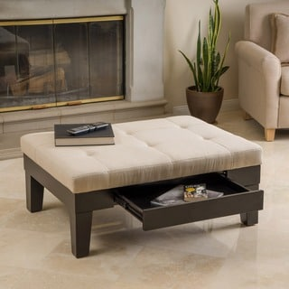 Chatham Ivory Linen Storage Ottoman by Christopher Knight Home