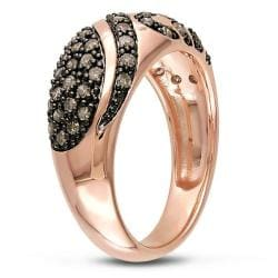 Miadora Pink Silver 1/2ct TDW Brown Diamond  Ring - Thumbnail 1