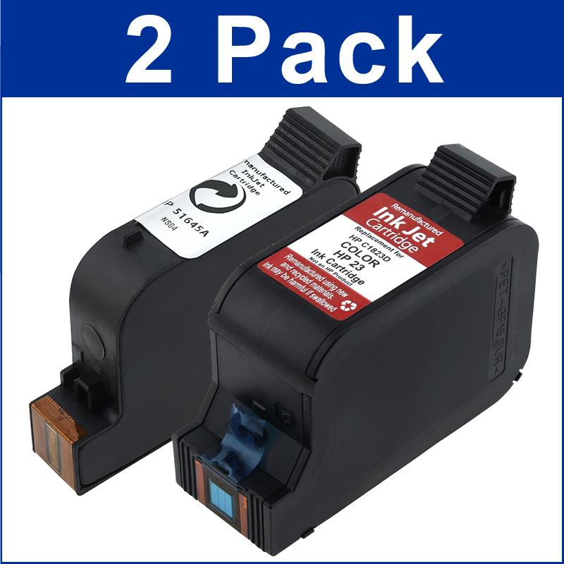 INSTEN HP 45/ 23 Ink Cartridge Black/ Color (Remanufactured)