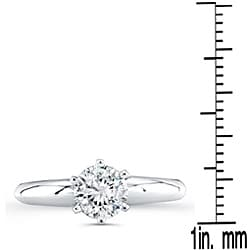 Victoria Kay 14k Gold 1ct TDW Certified 6-Prong Diamond Solitaire Engagement Ring (H-I, I1-I2) - Thumbnail 2
