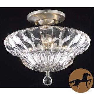 Somette Ornate Collection 7881 3-light Flush Mount Light