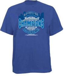 Men's 'It's Our Time' Blue Dallas Basketball T-shirt