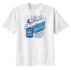 Men's '1st Time Champions' White Dallas Basketball T-shirt