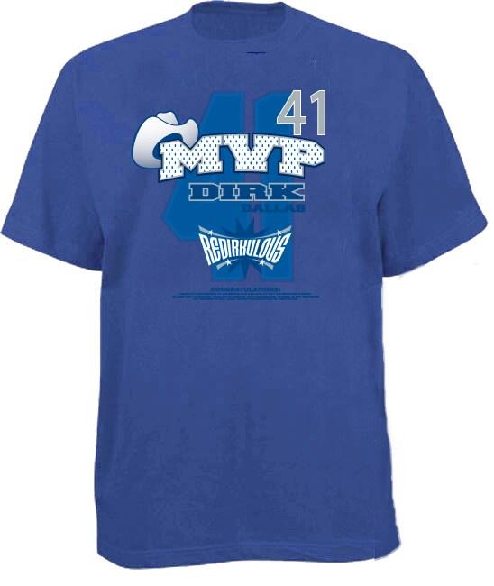 Men's 'MVP' Blue Dallas Basketball T-shirt