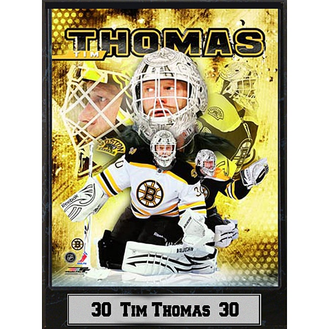 Boston Bruins Tim Thomas Photograph Plaque
