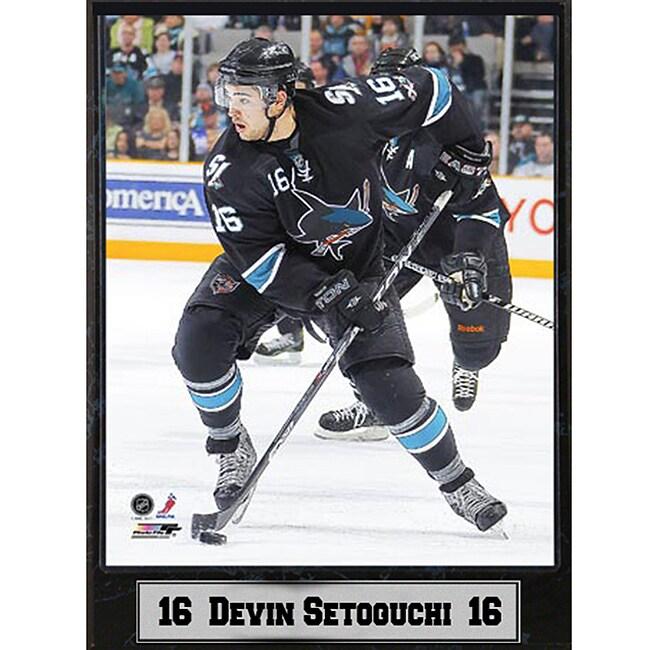 San Jose Sharks Devin Setoguchi 9x12-inch Photo Plaque