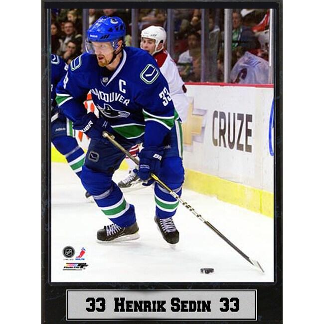 Vancouver Canucks Henrik Sedin Plaque