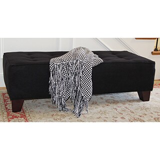 Bryan Midnight Tufted Cocktail Ottoman