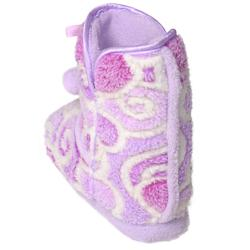Journee Collection Kids Girl's 'Christian' Heart Pattern Toggle Slipper Boots - Thumbnail 1