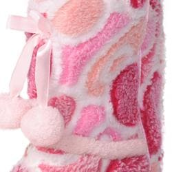 Journee Collection Kids Girl's 'Christian' Heart Pattern Toggle Slipper Boots - Thumbnail 2