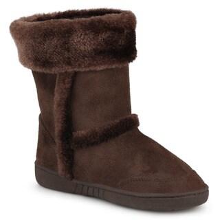 Journee Kids Girl's 'Chuckie' Faux Fur Trim Boots