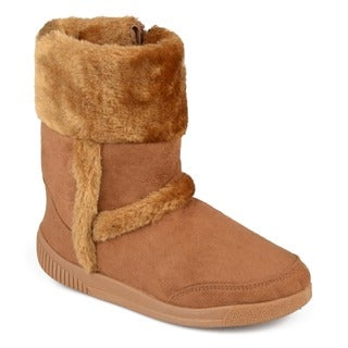 Journee Kids Girl's 'Chuckie' Faux Fur Trim Boots