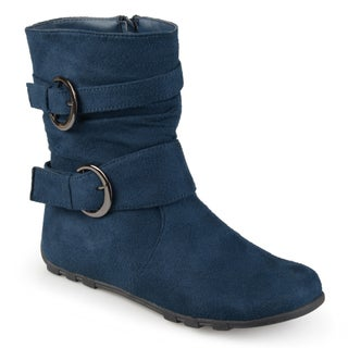 Journee Kids Girls' Katty Buckle Accent Mid-calf Boots (More options available)