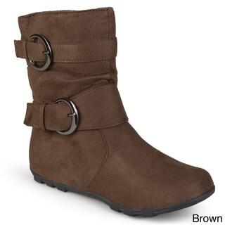 Journee Kids Girl's 'Katty' Buckle Accent Mid-calf Boots
