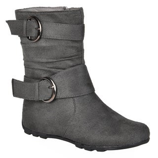 Journee Kids Girl's 'Katty' Buckle Accent Mid-calf Boots