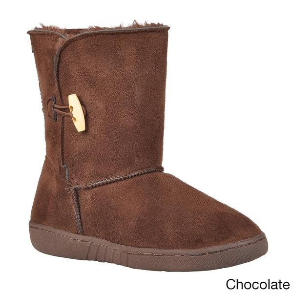 Journee Kids Girl's 'Ktogle' Wood Toggle Accent Boots