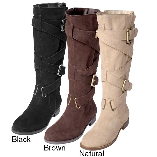 Two Lips Women's 'Too Jasp' Buckle Detail Mid-calf Boots