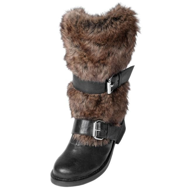 Two Lips Women\'s \'Too Lynx\' Faux Fur Trimmed Boots - Free Shipping ...