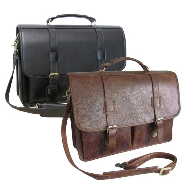 Amerileather Leather Executive Briefcase Free Shipping Today