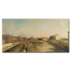 Antonio Canaletto 'Whitehall' Gallery-wrapped Canvas Art
