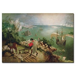 Pieter Bruegel 'Landscape with Fall of Icarus, 1555' Gallery-wrapped Canvas Art