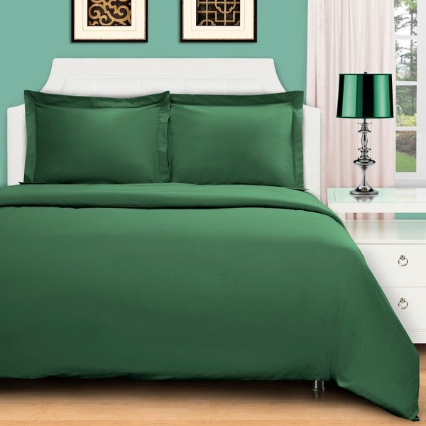 Superior 100-percent Premium Long-staple Combed Cotton 400 Thread Count Solid 3-piece Duvet Set