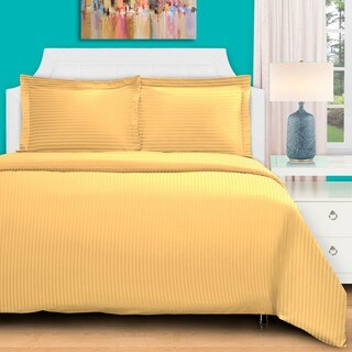 Superior 400 Thread Count Stripe Cotton Sateen Duvet Cover Set (More options available)