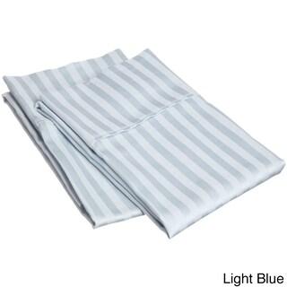 Superior 400 Thread Count Stripe Cotton Sateen Pillowcase Set (Set of 2)
