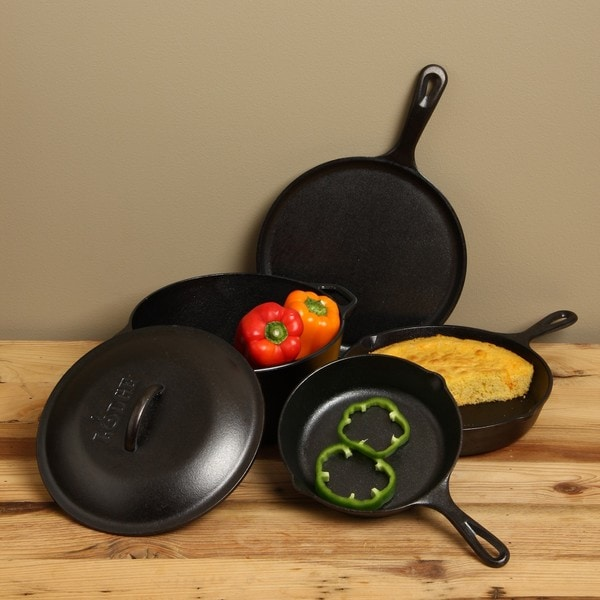 Lodge 5-piece Cast Iron Cookware Set