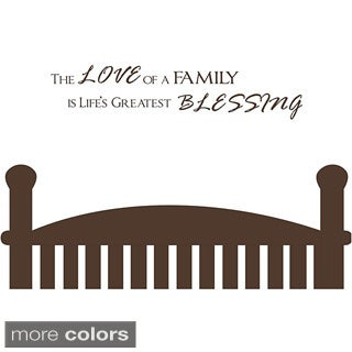 Vinyl Attraction 'The Love of a Family is Life's Greatest Blessing' Wall Decal (More options available)