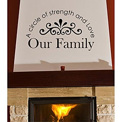 Vinyl Attraction 'A Circle of Strength and Love Our Family' Arched Design Wall Decal