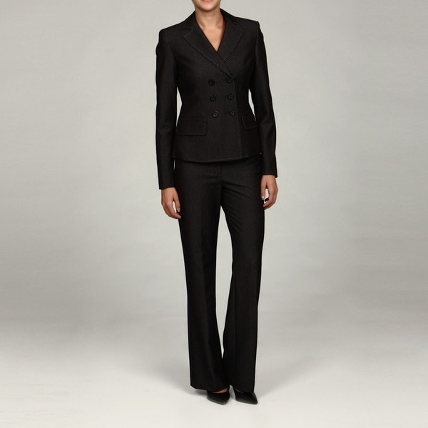 Shop Anne Klein Women S 6 Button Double Breasted Pant Suit