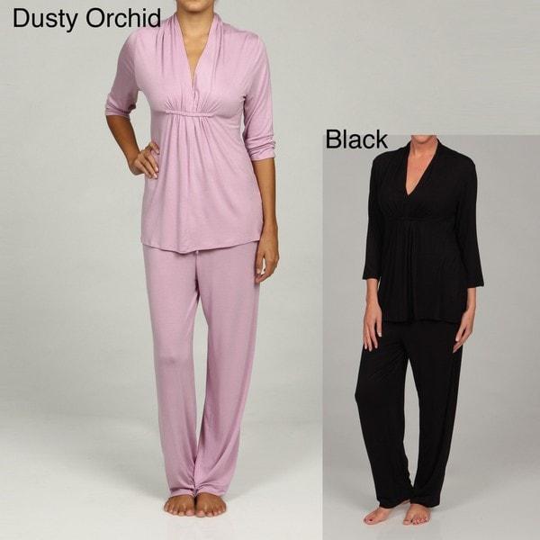 Ellen Tracy Women's Favorite 3/4-sleeve Pajama Set