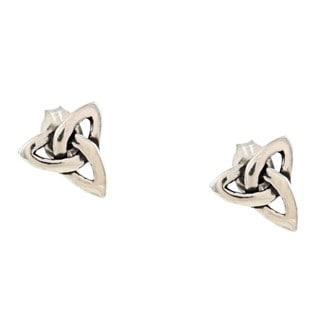 Silvermoon Sterling Silver Celtic Design Stud Earrings