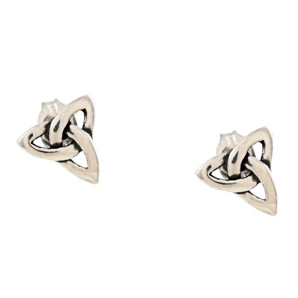 Silvermoon Sterling Silver Celtic Design Stud Earrings