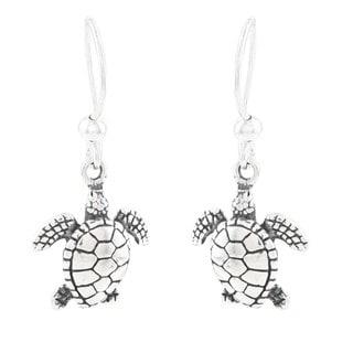 Silvermoon Sterling Silver Sea Turtle Earrings