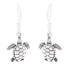 Silvermoon Sterling Silver Sea Turtle Earrings|https://ak1.ostkcdn.com/images/products/6078074/Silvermoon-Sterling-Silver-Sea-Turtle-Earrings-P13749900.jpg?impolicy=medium