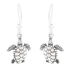 Silvermoon Sterling Silver Sea Turtle Earrings
