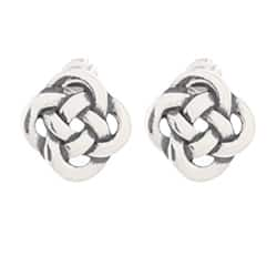 Silvermoon Sterling Silver Celtic Knot Stud Earrings https://ak1.ostkcdn.com/images/products/6078080/Silvermoon-Sterling-Silver-Celtic-Knot-Stud-Earrings-P13749905.jpg?impolicy=medium