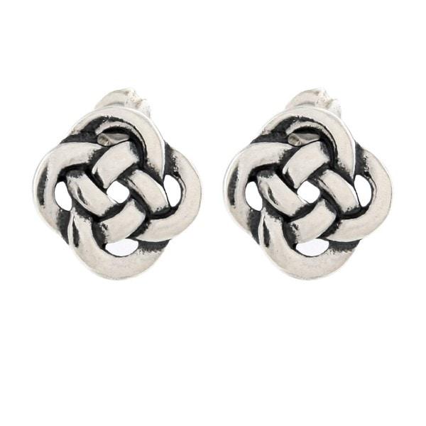 Silvermoon Sterling Silver Celtic Knot Stud Earrings