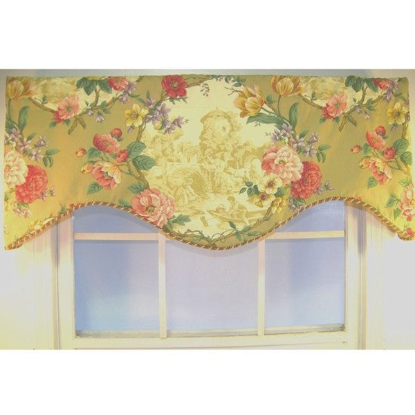 Antique Toile Cornice Valance Free Shipping Today