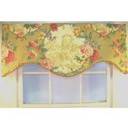 "RLF Home Antique Toile Cornice 50"" Window Valance - Multi"