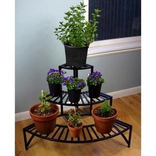 Folding Corner Three-layer Plant Stand