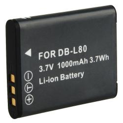 Li-Ion Battery for Sanyo DB-L80/ Xacti DMX-CG11/ VPC-CG10 (Pack of 2)