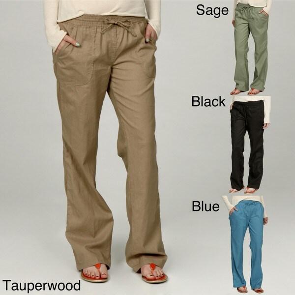 LA GOLD Women's Linen/Cotton Drawstring Pants - Free Shipping On ...